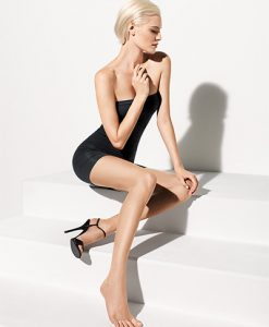 Wolford Luxe 9 Toeless Tights gobi 17055/4365