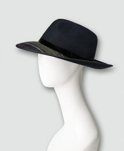 Barbour Damen Hut ThornhillFedora navy LHA0337NY11