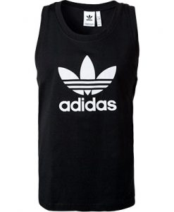 adidas ORIGINALS Trefoil Tank Top black DV1509